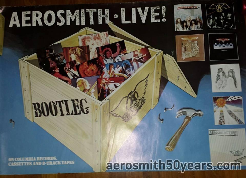 Live! Bootleg 1978 Original Promotional Poster - Aerosmith