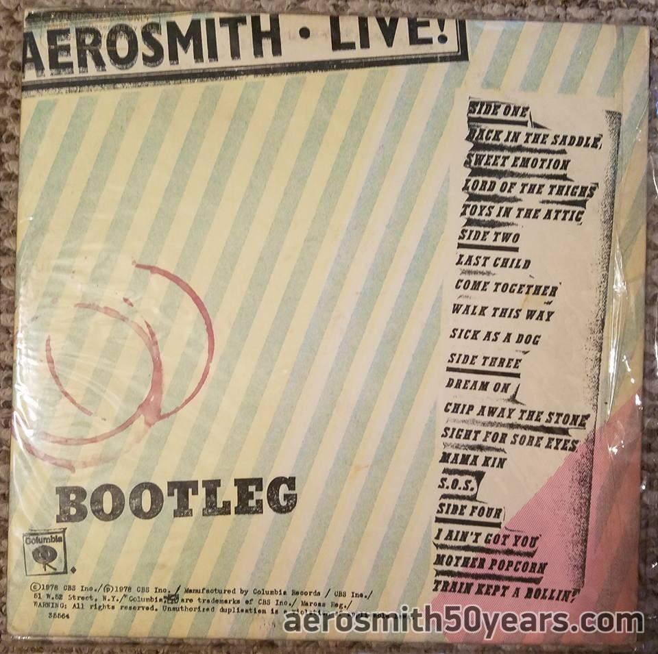 Aerosmith live bootleg album cover commit error