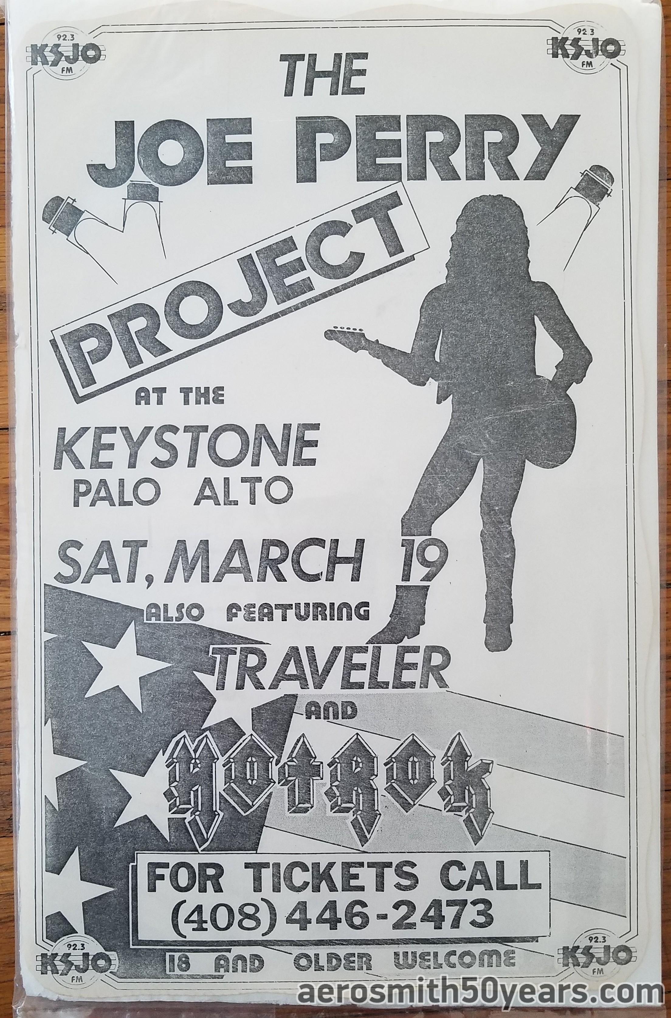 The Joe Perry Project- March 19, 1983 Keystone Palo Alto