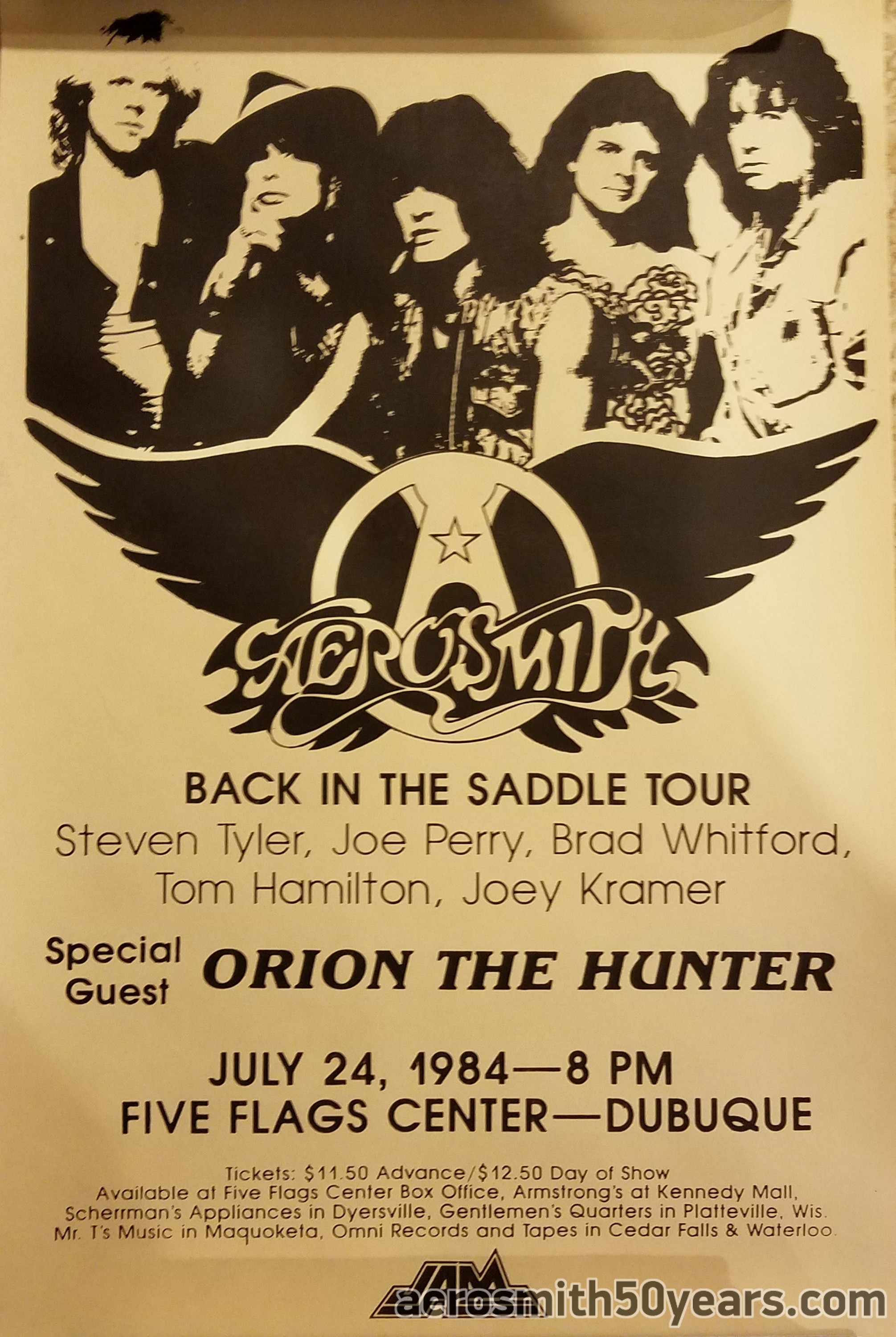 Back In The Saddle Tour Dubuque Ia July 24th 1984 With