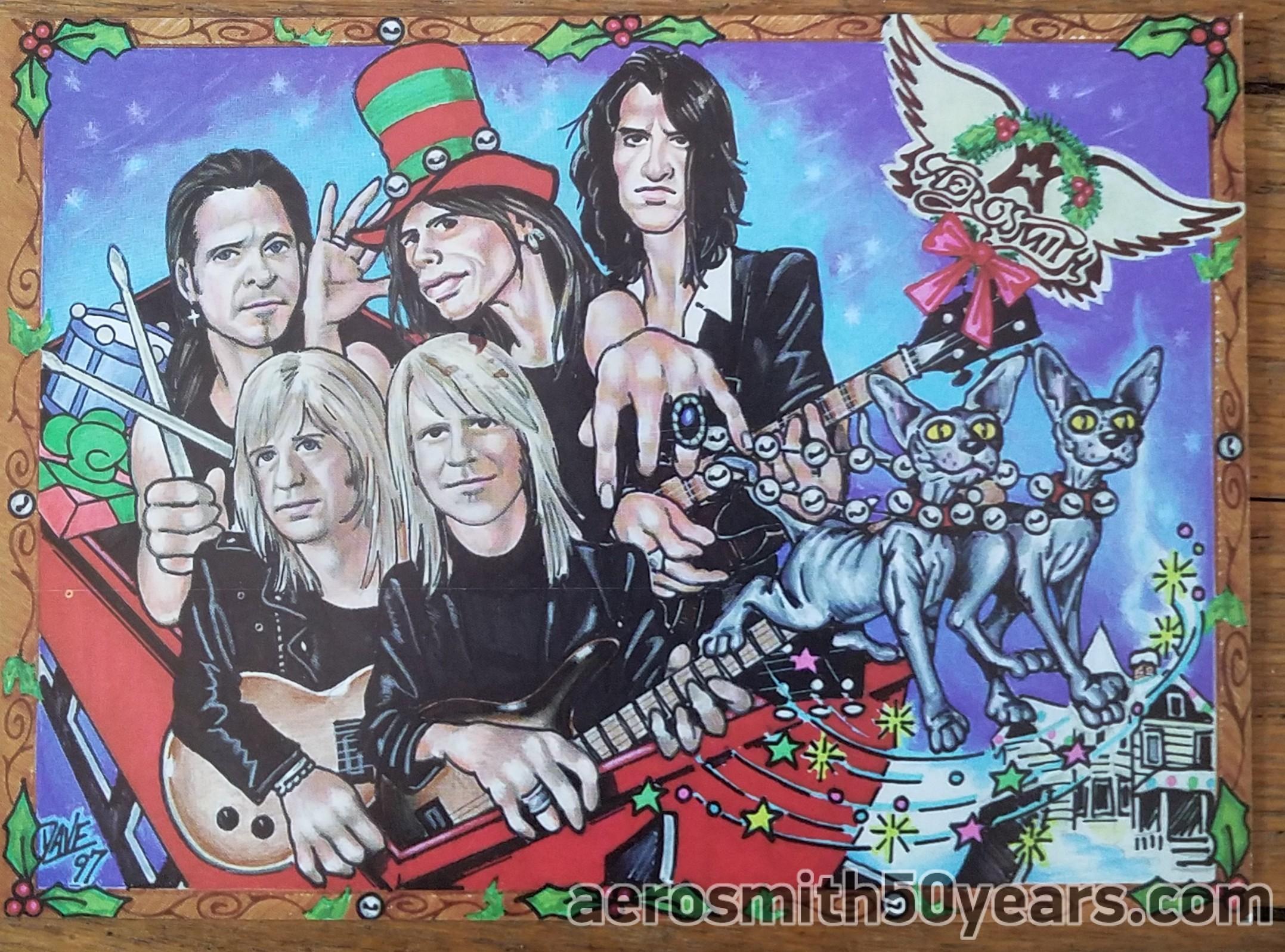 Nine Lives- Christmas Card - Aerosmith