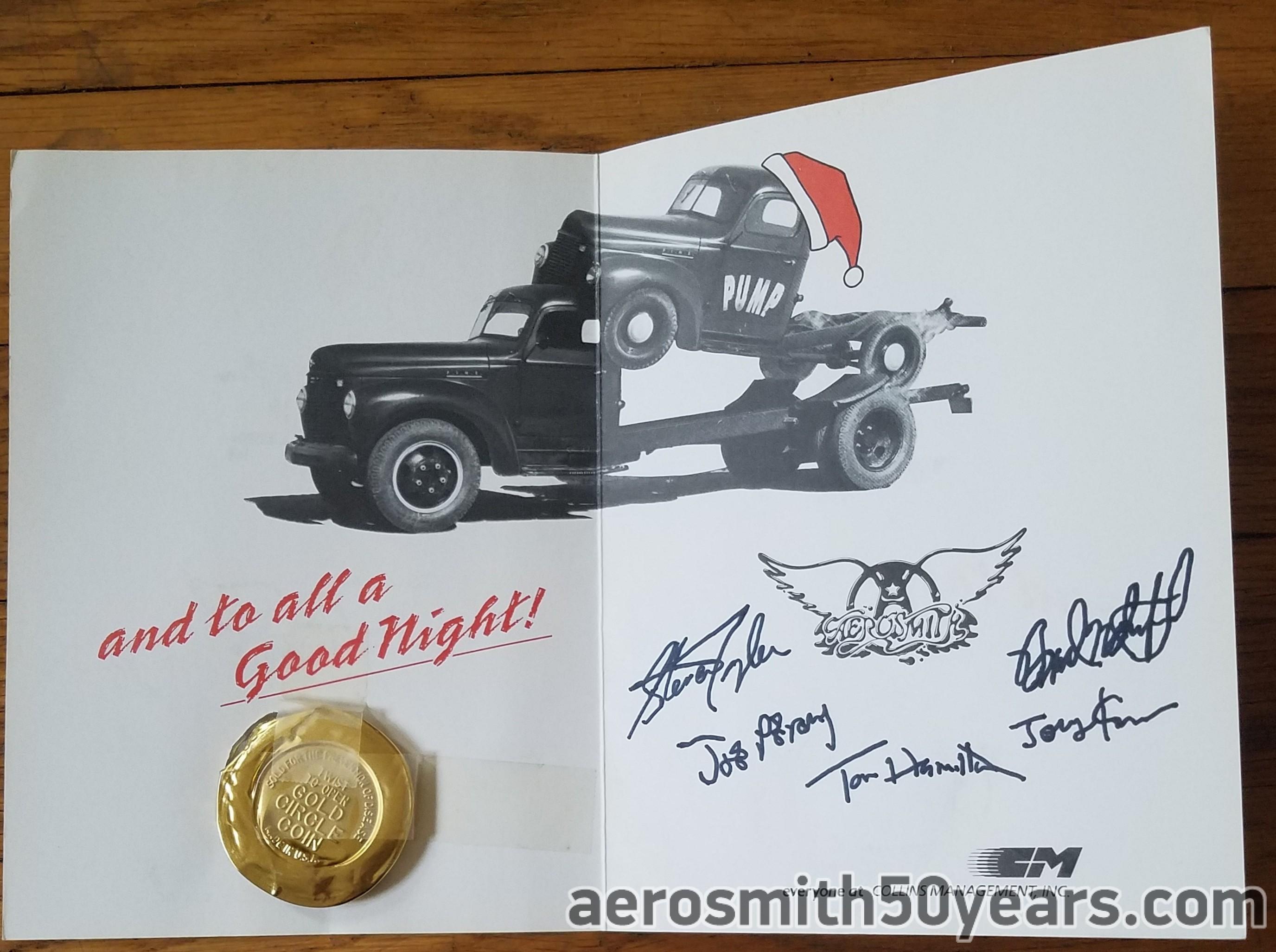 Happy Holidays To All...1990 Christmas Card With Condom - Aerosmith