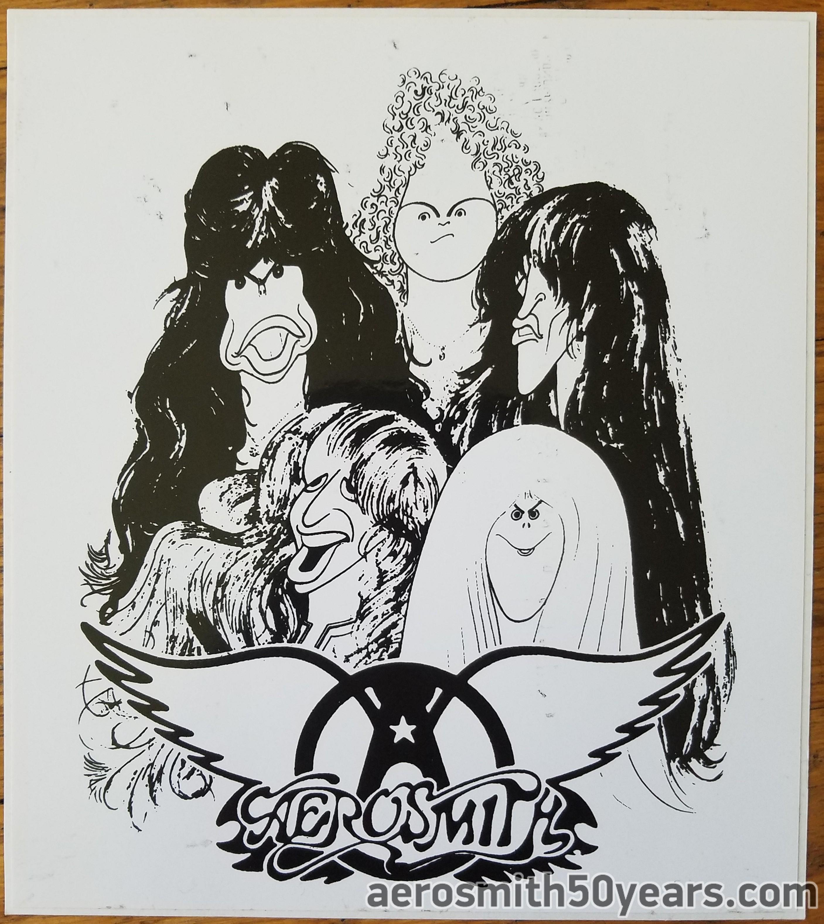 Draw The Line Sticker With Logo Aerosmith