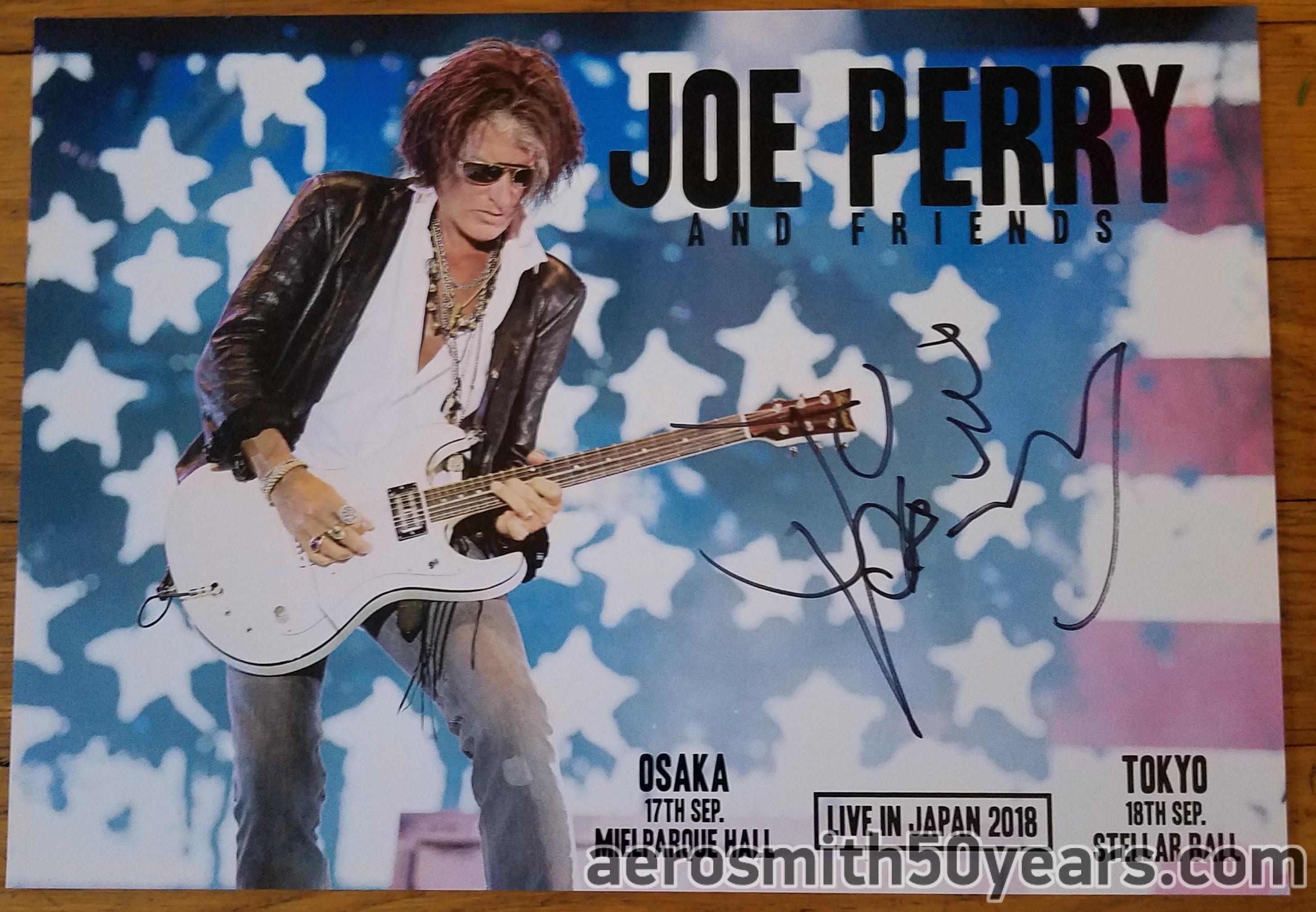 Joe Perry And Friends- 2018 Japan Tour Signed Photo/Card. (Thank you Satoshi)