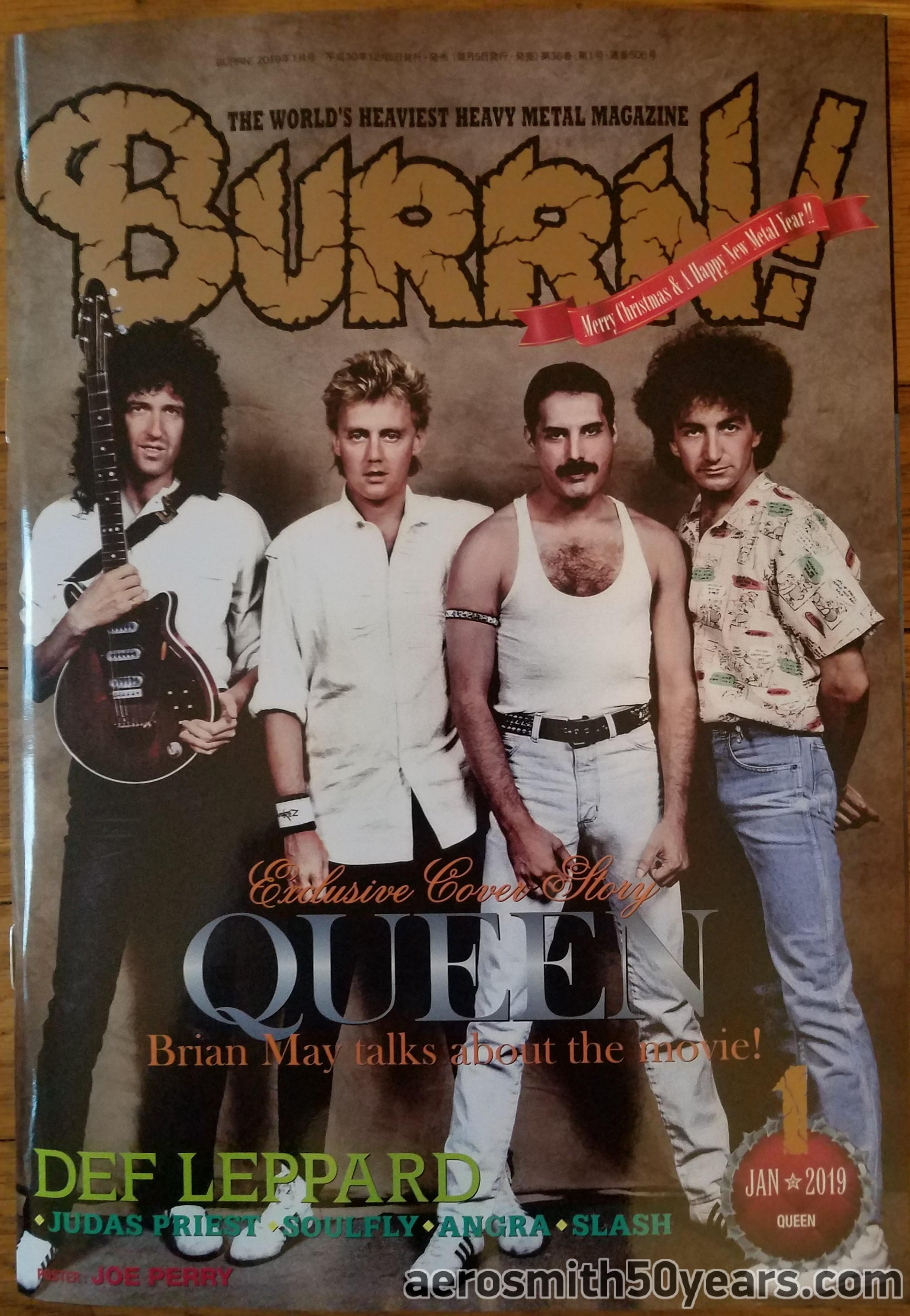 Burrn! Janurary 2019 Japan Magazine With Joe Perry Centerfold Calender