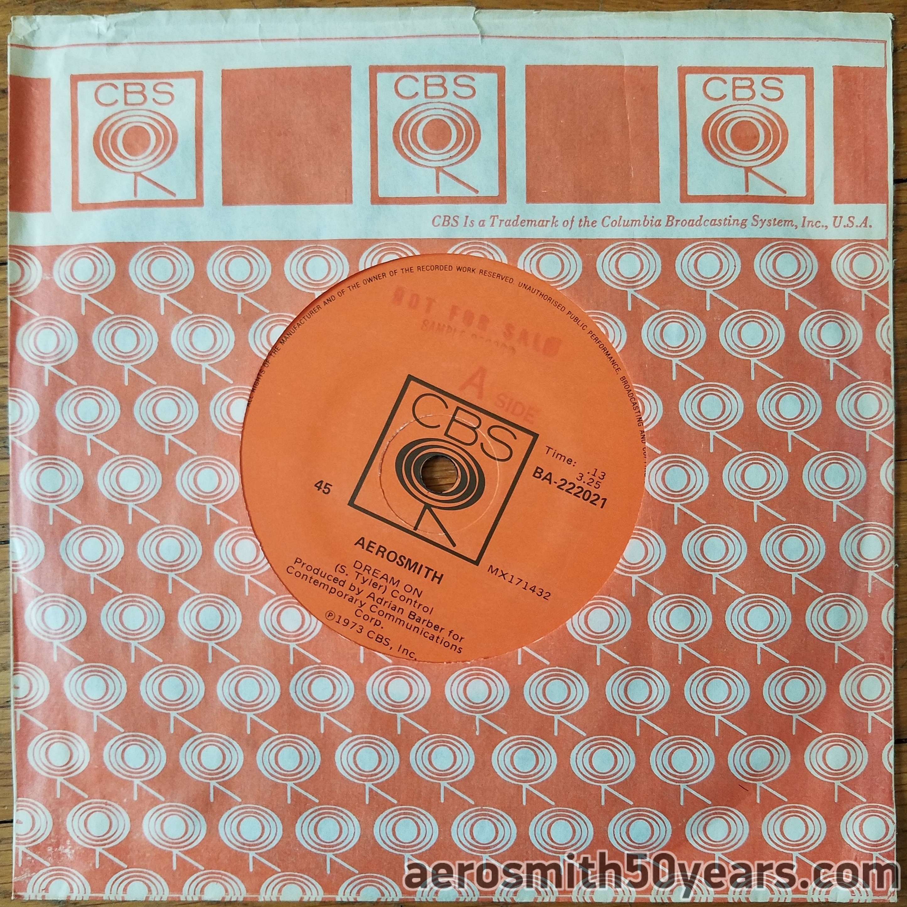 Dream On/Somebody- 1973 Promotional Australian 7″ Single Record