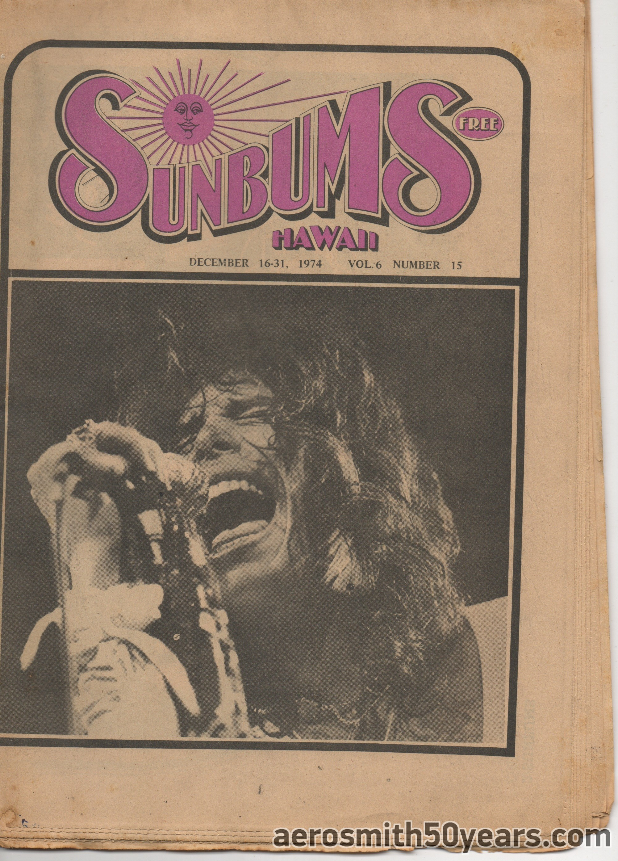 Sunbums (Free Hawaii Magazine)- December 16-31, 1974. *I'm looking for a copy of this if anyone might have it please contact us. Thanks!