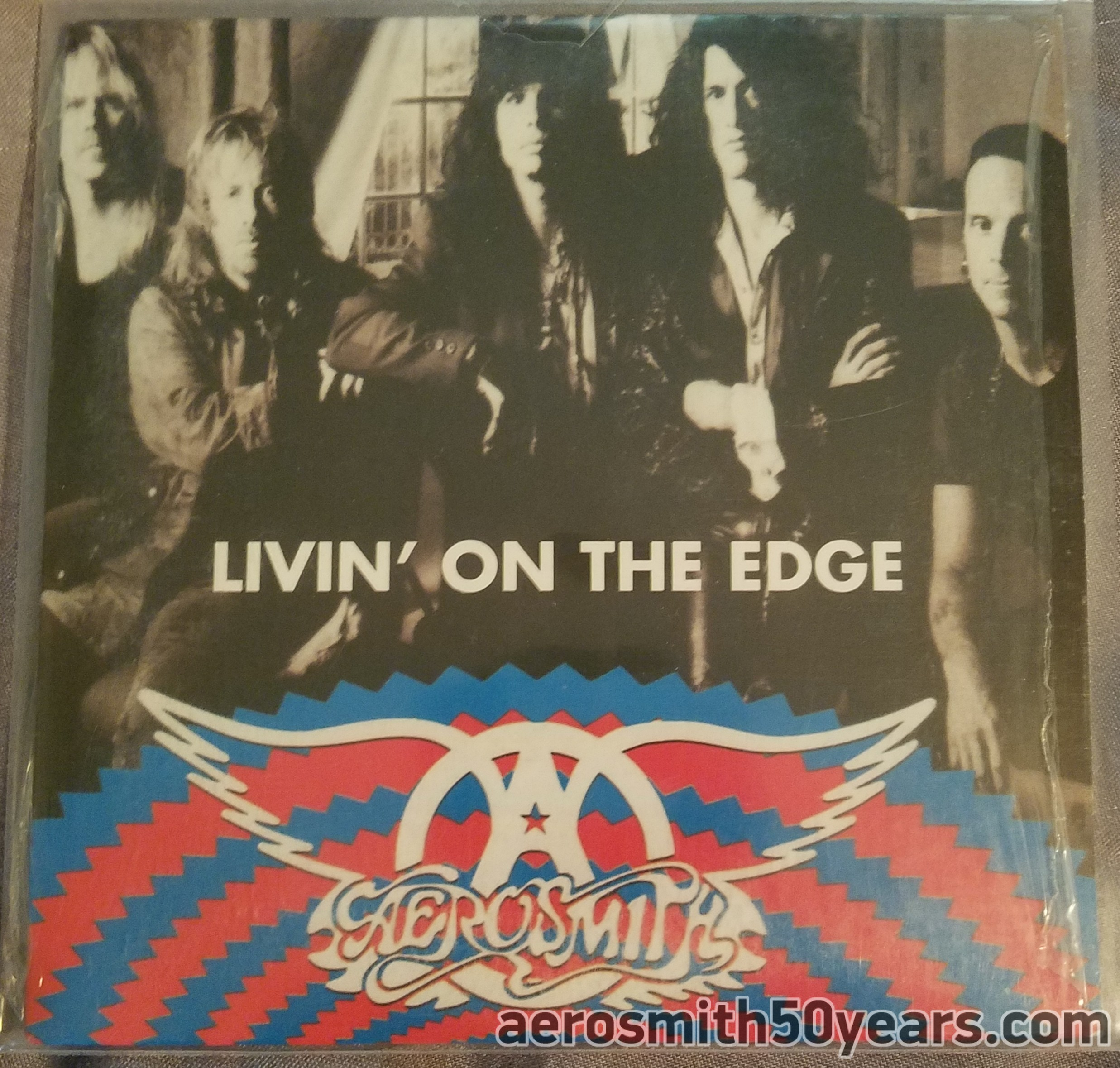 "Livin' On The Edge-1995 French Only Promotional Card Sleeve CD. W/Two Mixed Versions. Most likely Used To Promote ""Big Ones"" Compilation Album"