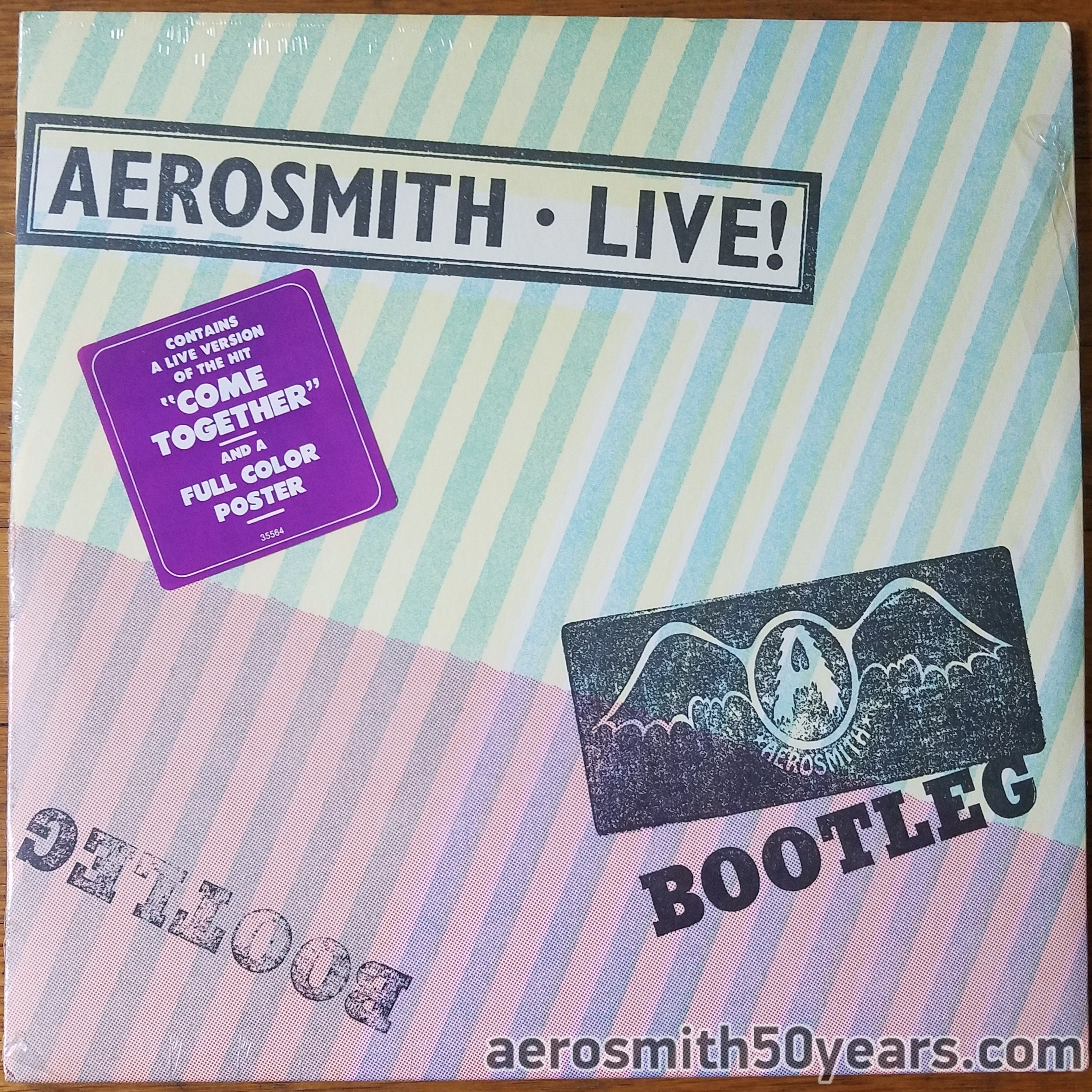 Live! Bootleg- Original First US Pressing Cover Sealed With Bat Wings And Hype Sticker.