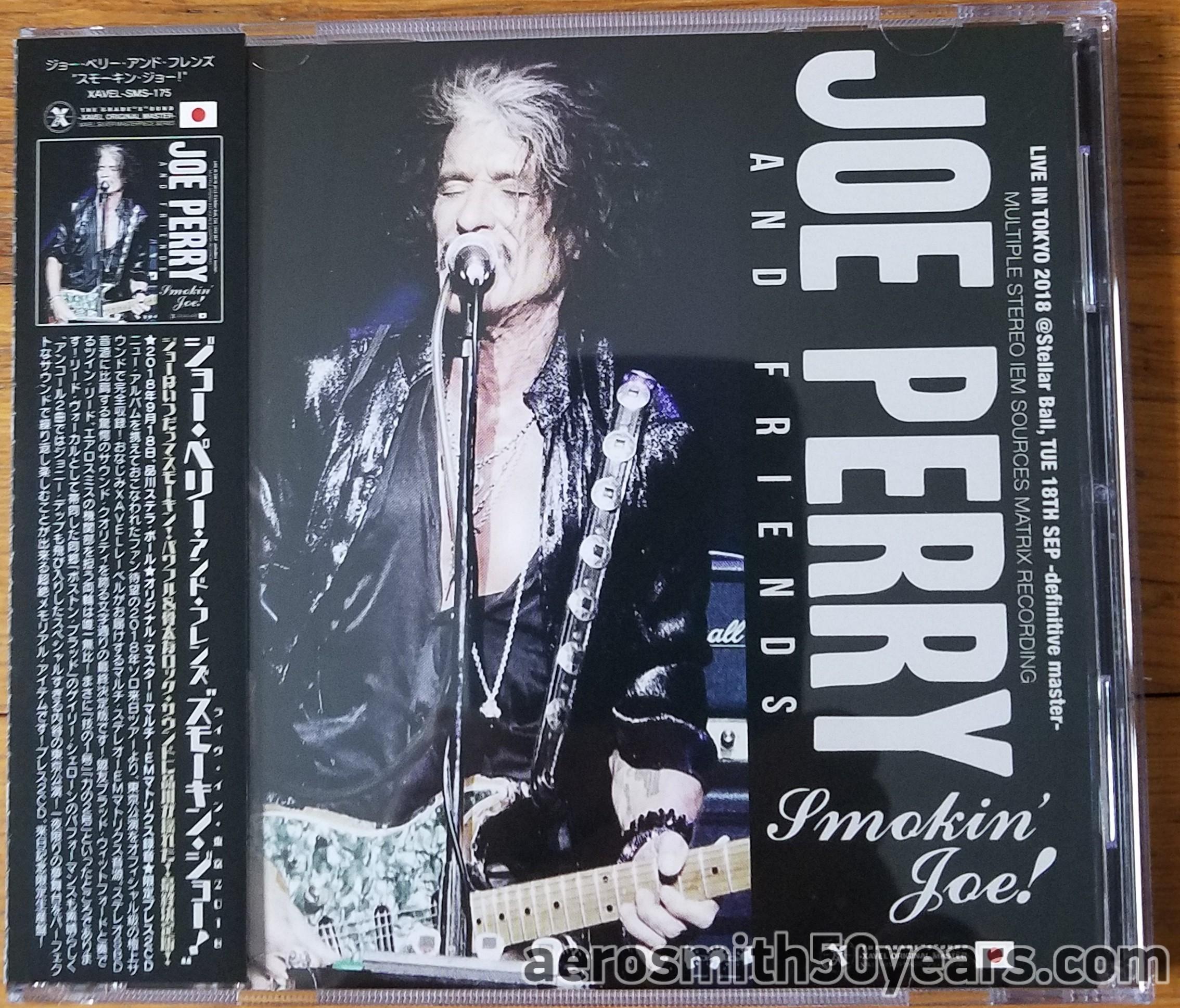 "Joe Perry And Friends- ""Smokin' Joe"" September 18th, 2018 At Stellar Ball, Tokyo, Japan 2 CD (Unofficial)"