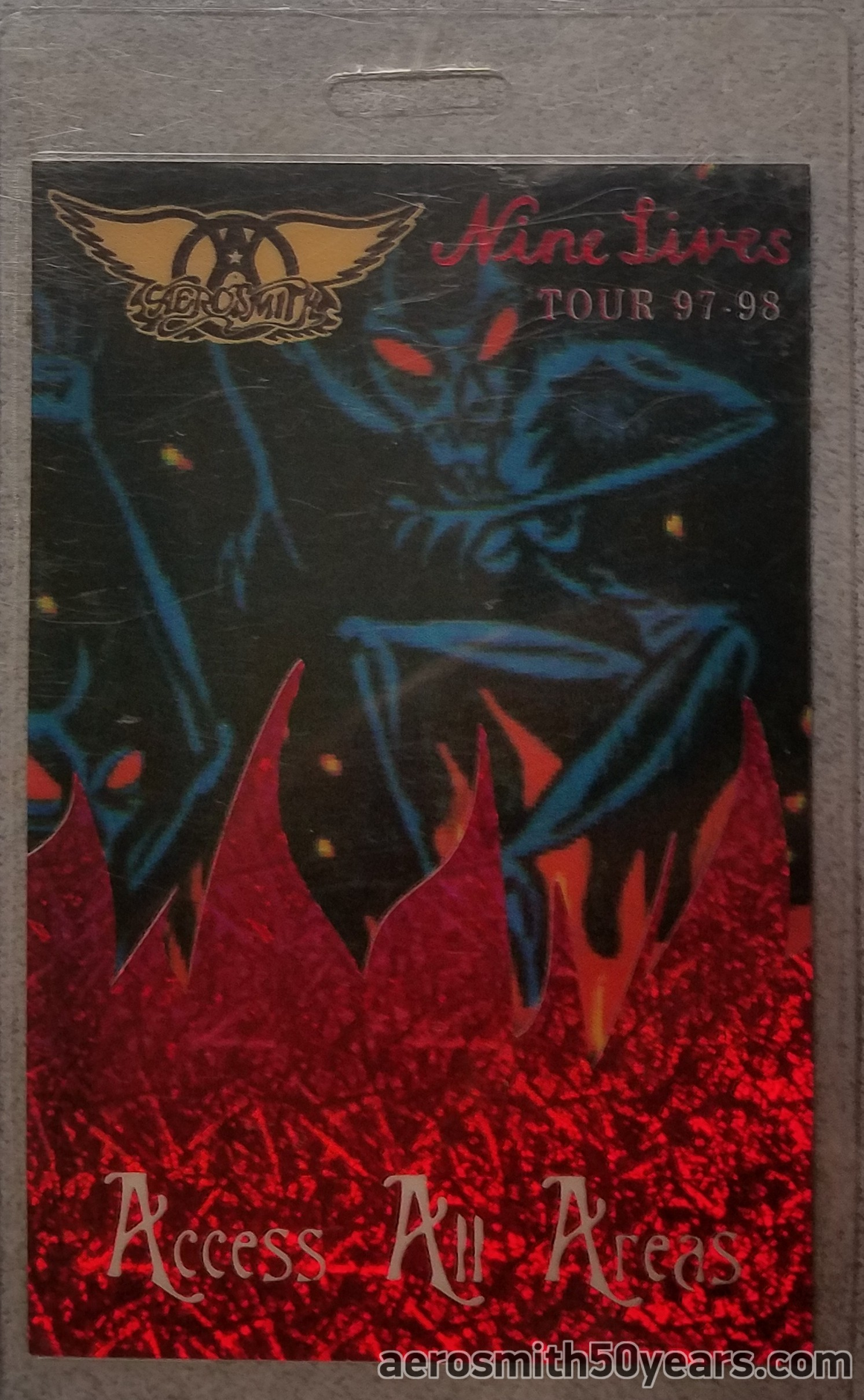 Nine Lives- 1997-98 Access All Areas Tour Laminate