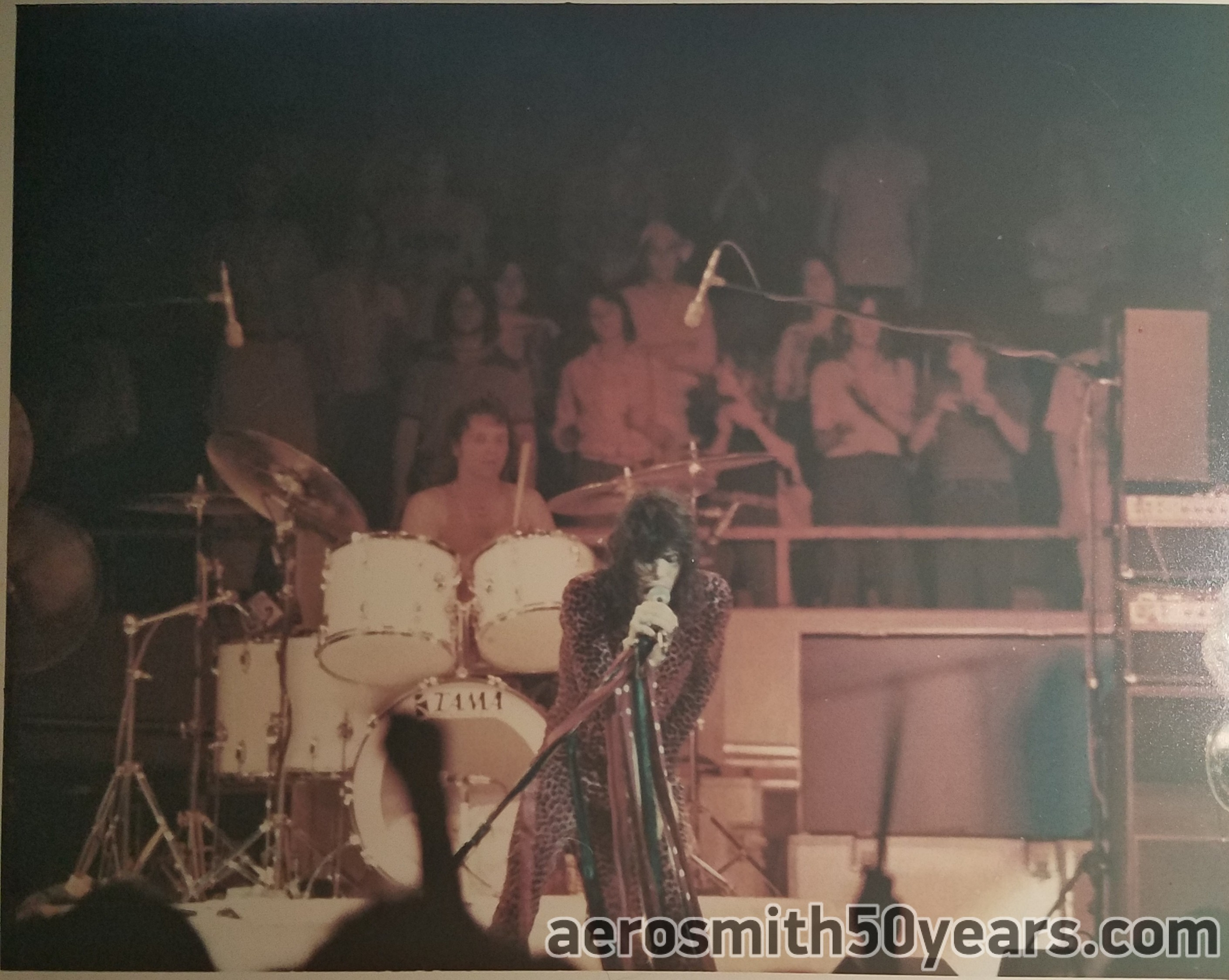 "Steven Tyler & Joey Kramer. July 1976 Live ""Rocks"" Tour"