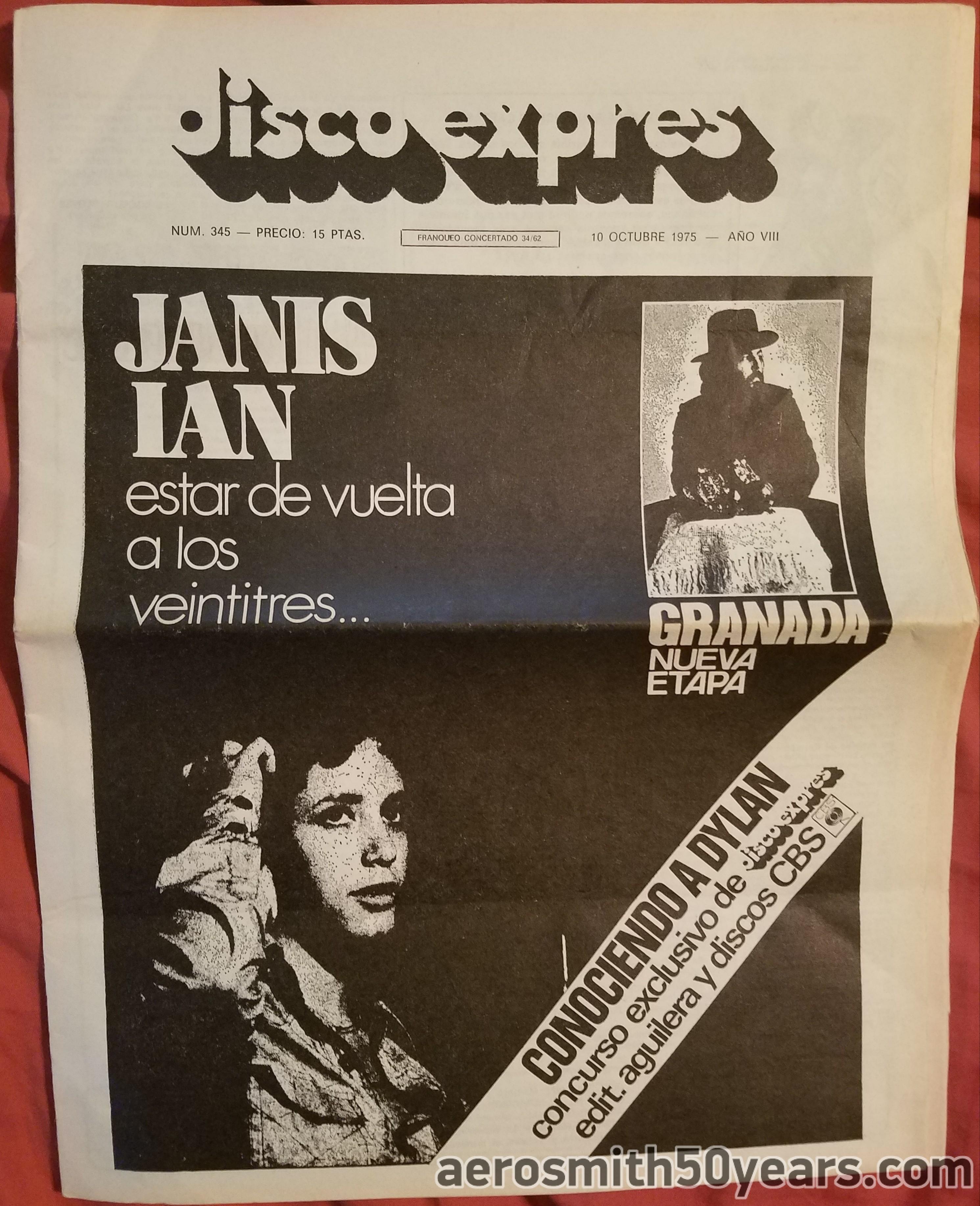 Disco Expres- October 10, 1975 Spain Magazine