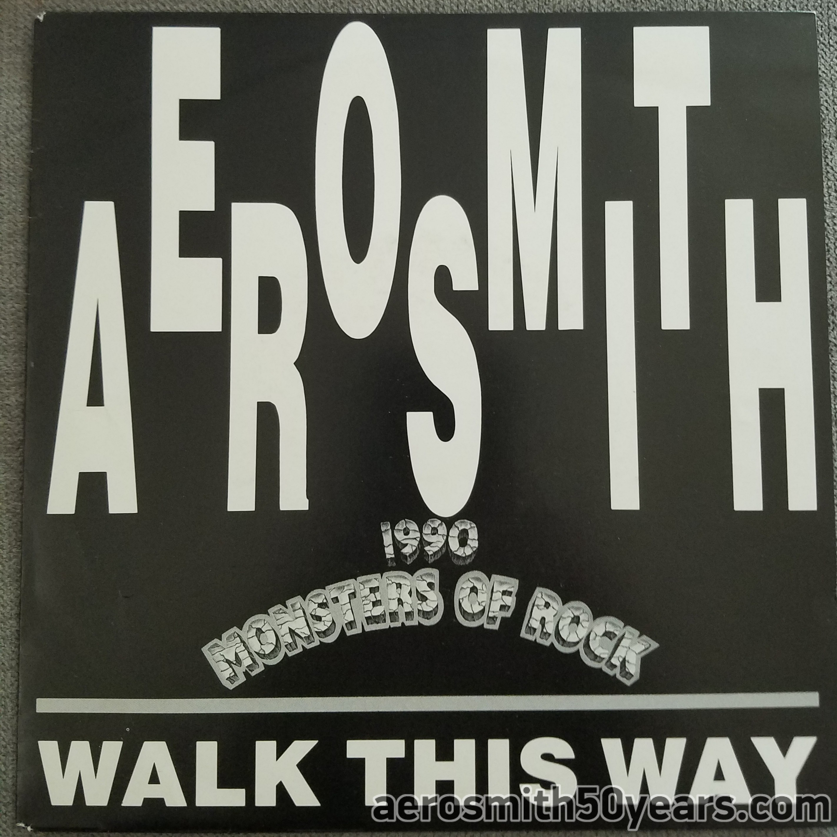 Walk This Way / Come Together – 1990 Monsters Of Rock 7″ French Promotional 45 CBS.