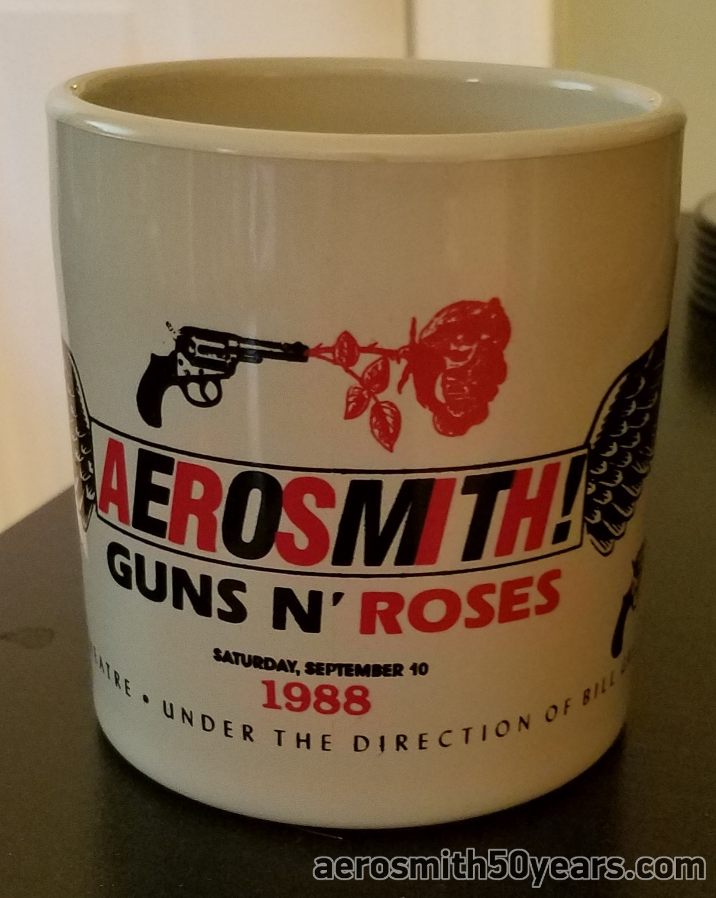 Aerosmith / G'N'R – September 10th, 1988 Shoreline Amphitheater, Mountain View, CA. Promotional Cup