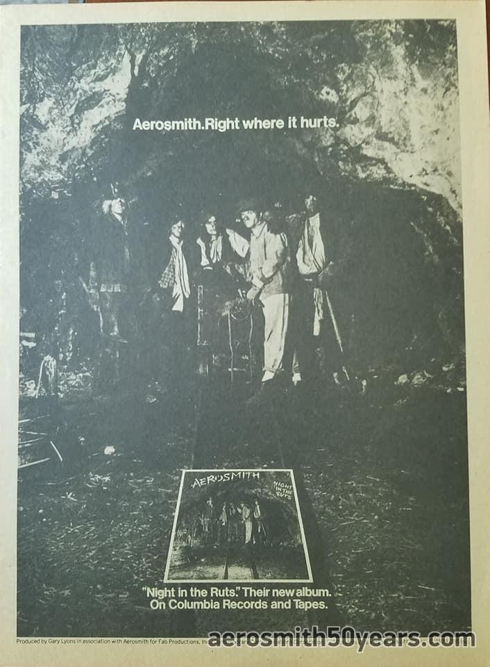 """""""Night In The Ruts"""" Original Album  Ad With Tour-dates."""