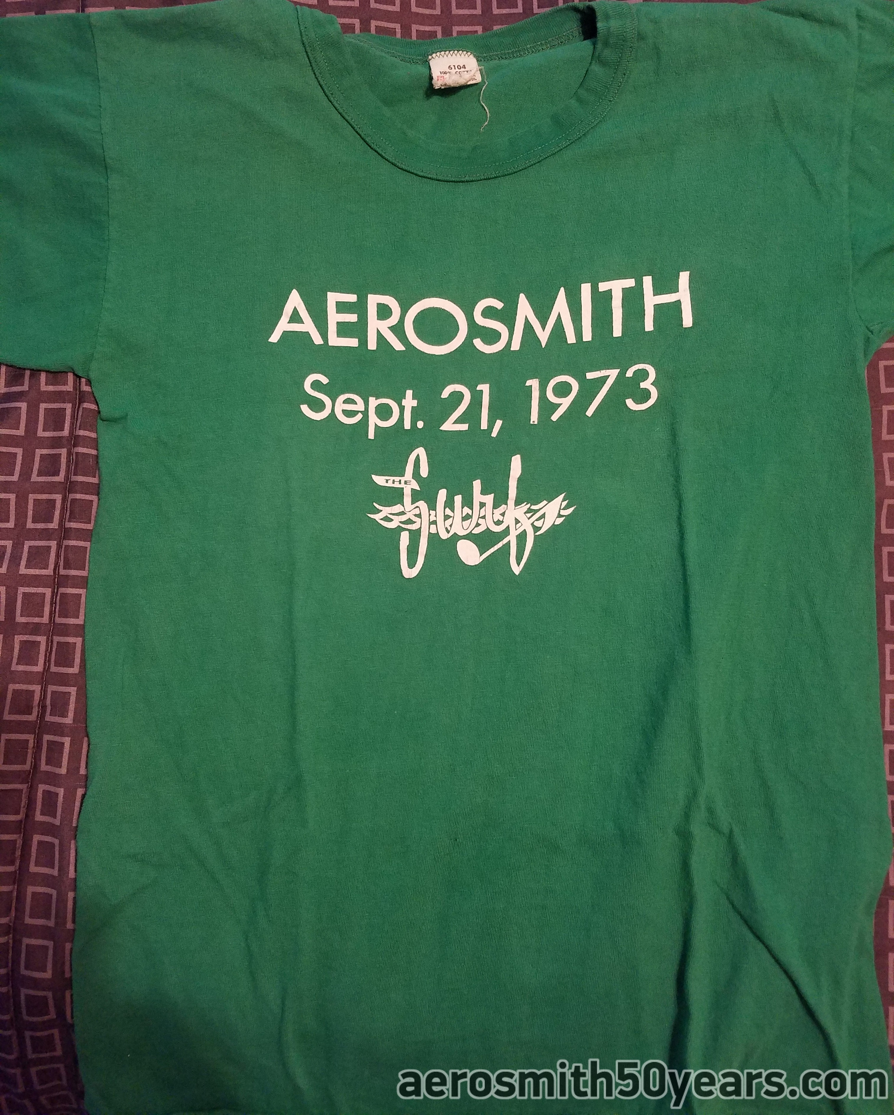 September 21, 1973 At The Surf, Nantasket Beach Hull, Massachusetts. These shirts we're printed by the club owner without the bands knowledge according to Kelly. But  Kelly struck up a deal for a dozen shirts and the band got theirs. You can see Brad wearing his.