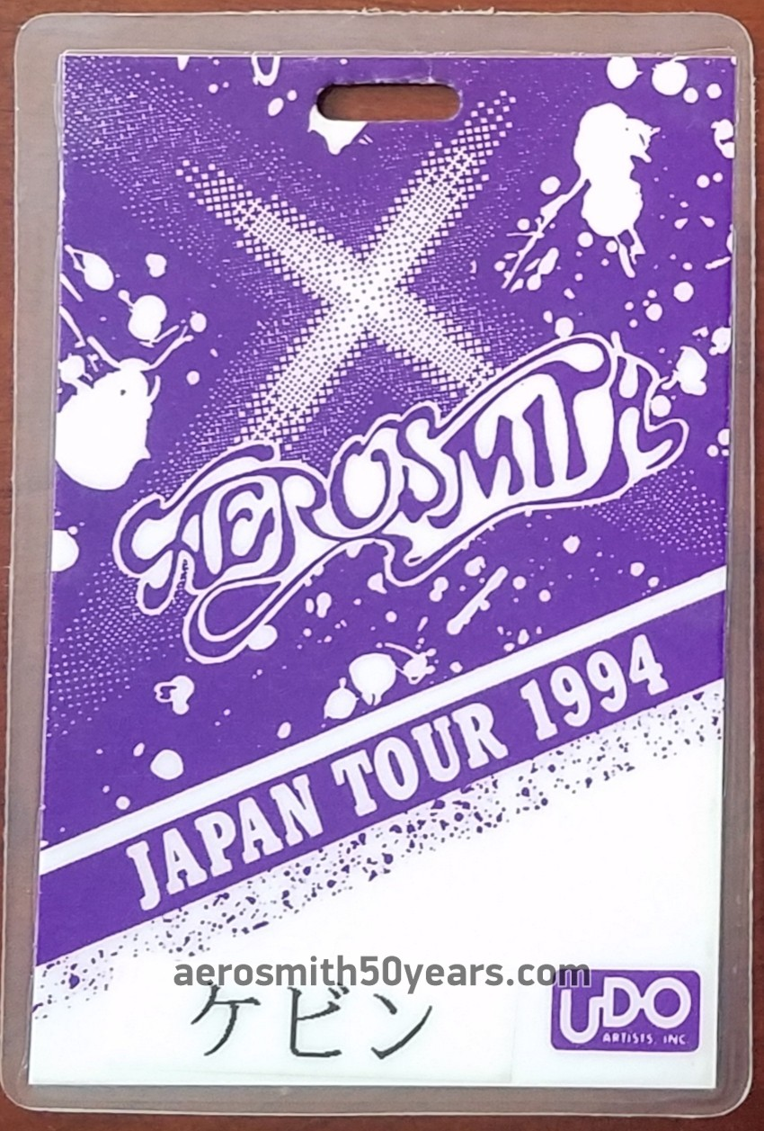Get A Grip Tour 1994- Japan Laminate Pass